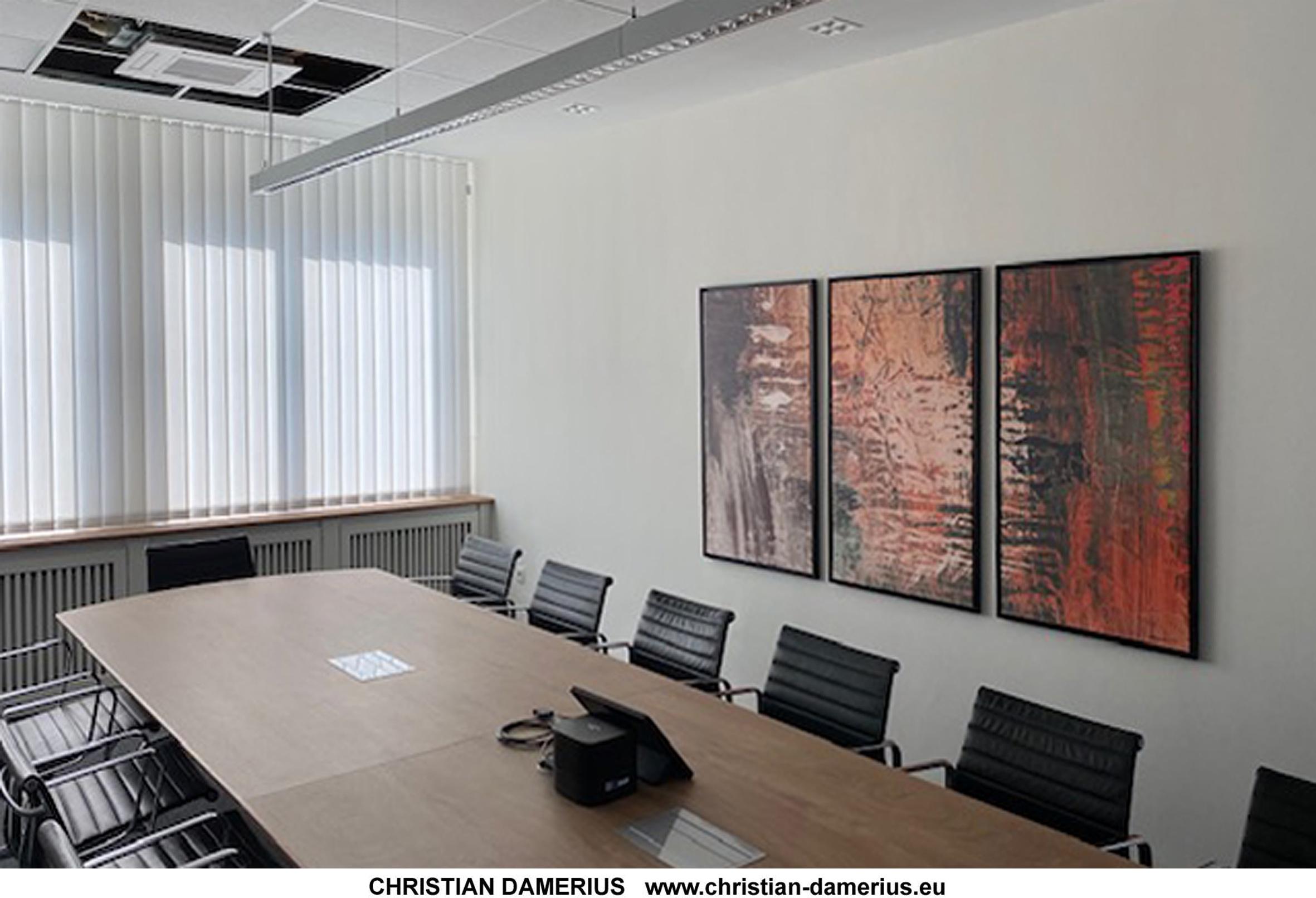 abstraktion9-konferenzraum-christian-damerius,kunstdrucke wandgestaltung,kunstdrucke für konferenzräume,gemälde,online kaufen.bilder für büros und wohnräume,