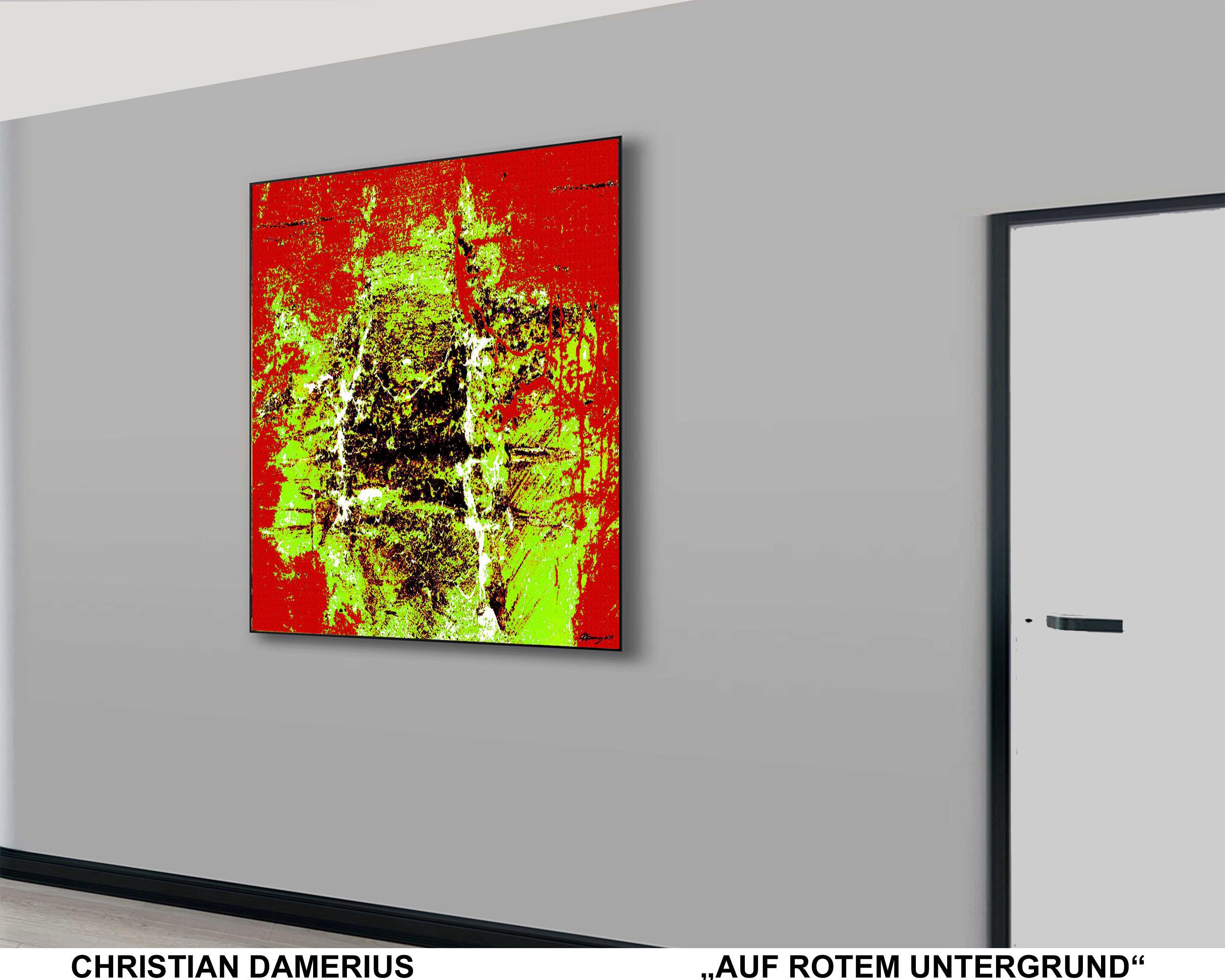 auf rotem untergrund,abstrakte deutsche malerei,bekannte moderne deutsche maler,bilder,gemälde kunstdrucke für wohnräume,wohnzimmer,büros,arbeitsplätze,gemälde kunstdrucke kaufen,kunstdrucke gerahmt,