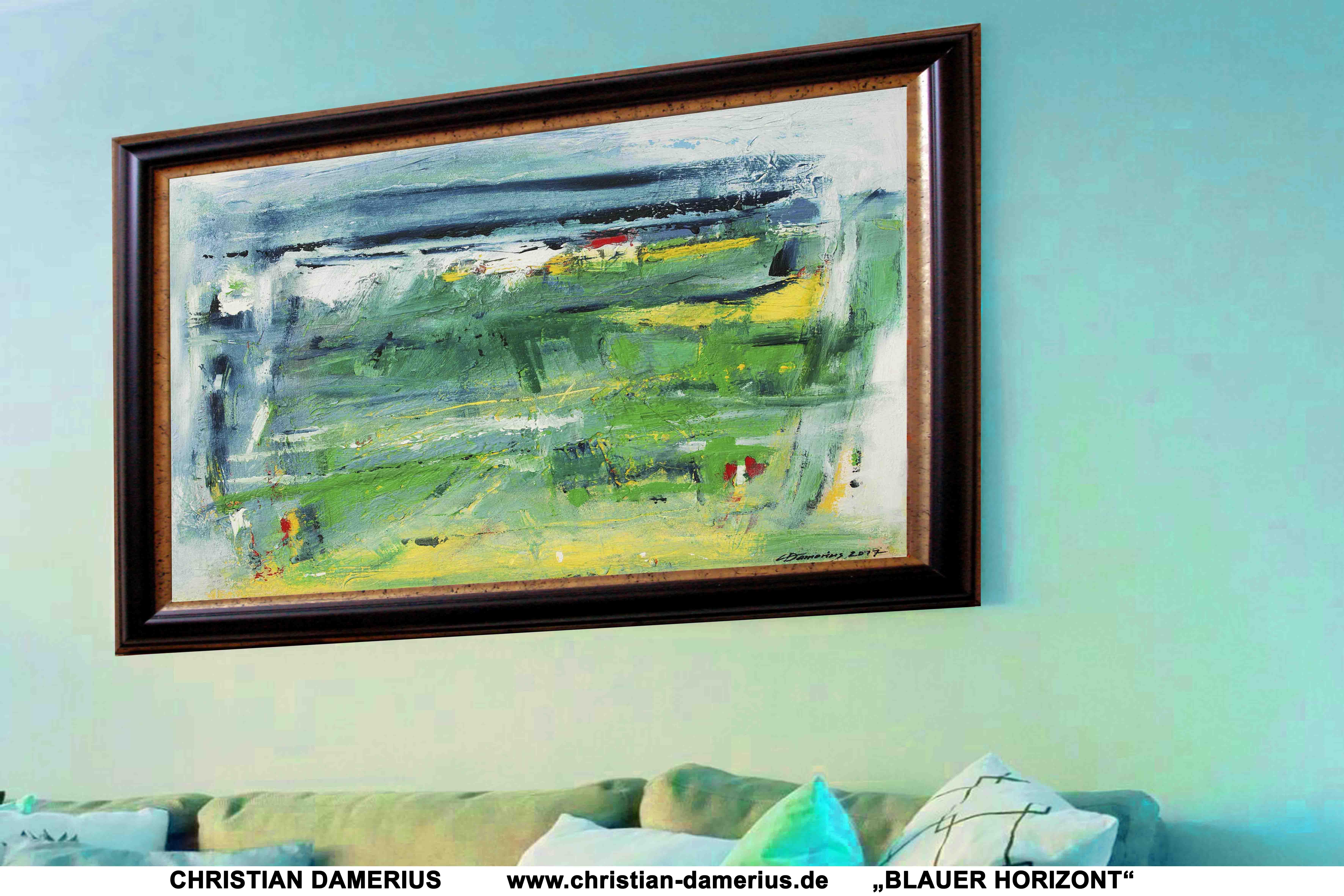 blauer horizont,moderne gemälde,kunstdrucke,kunstdrucke landschaften kaufen,moderne wandgestaltung mit bildern,leinwanddrucke gerahmt,