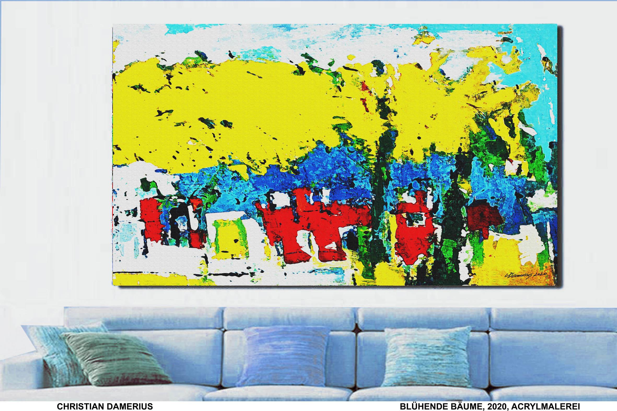 blühende bäume,christian damerius,gemälde,kunstdrucke,landschaftsmalerei,landschaften,moderne deutsche landschaftsmalerei,bekannte moderne deutsche maler,bilder für wohnräume,wohnzimmer,büro,arbeitsplatz,