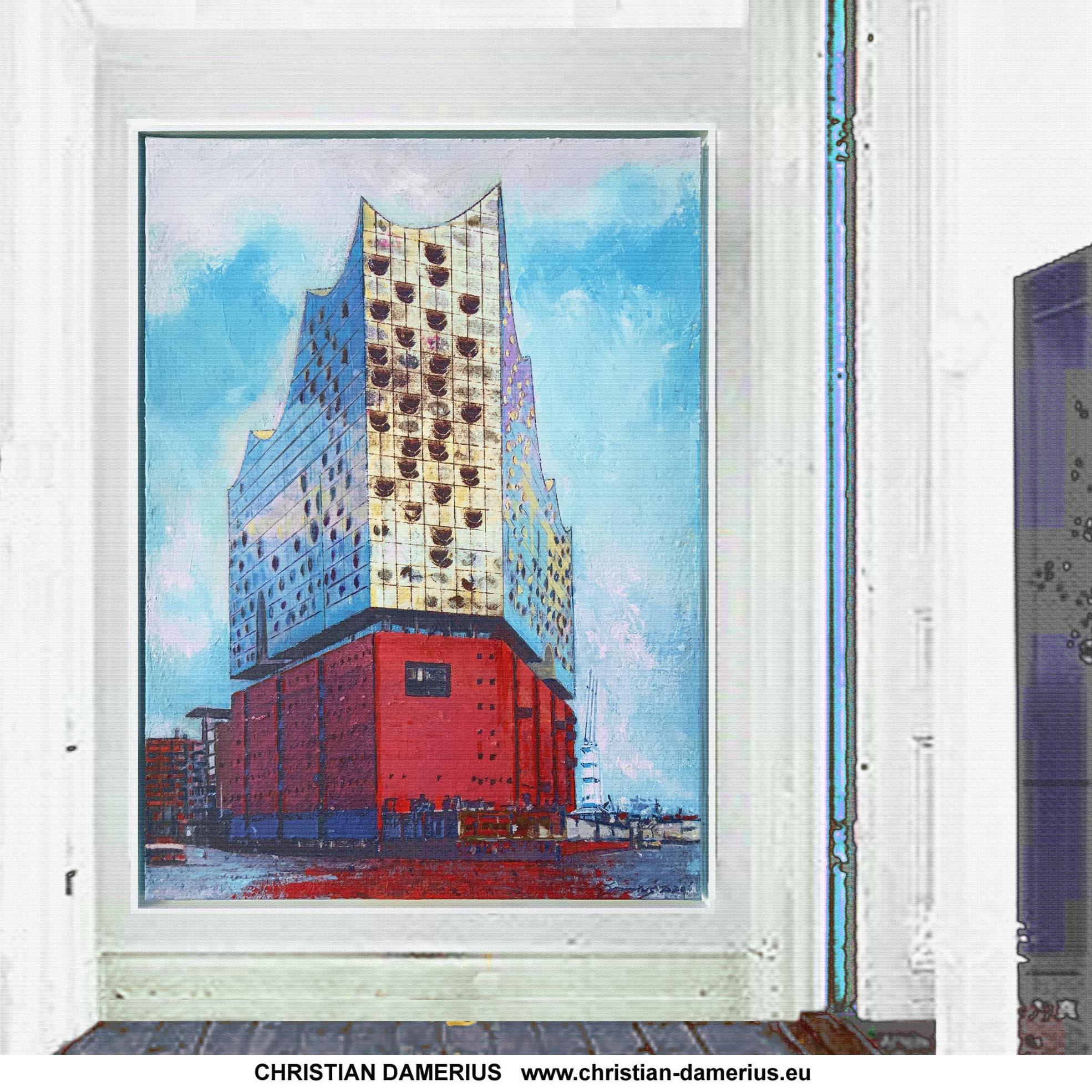 moderne architektur in hamburg,elbphilharmonie,musiksaal,speicher hamburg,moderne malerei kaufen,moderne gemälde kaufen,kunstdrucke elbphilharmonie,