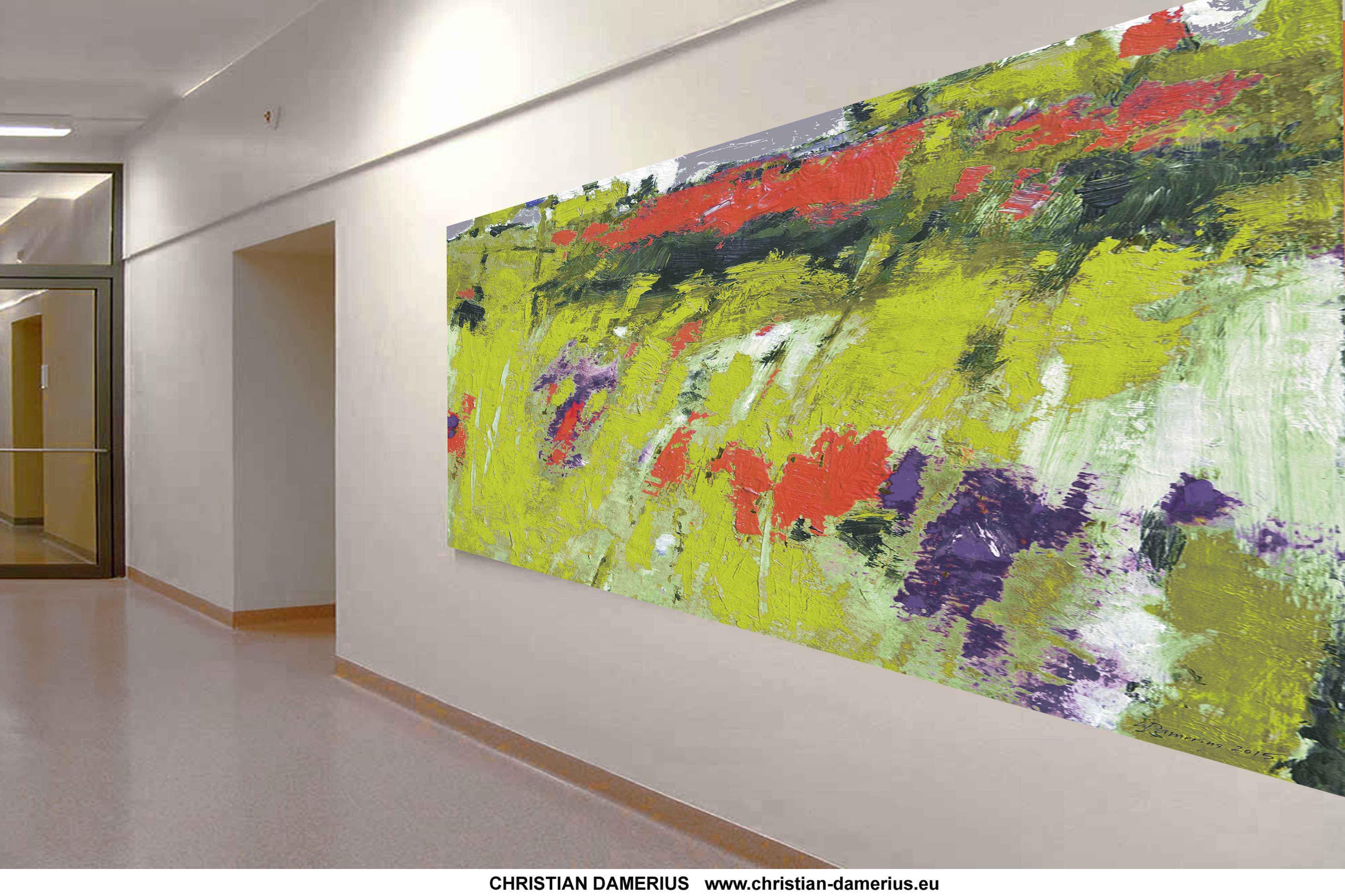 farbige landschaft kunstdruck,andgestaltung bilder,gemälde kunstdrucke,christian damerius,wandgestaltung,kunstdrucke,gemälde,